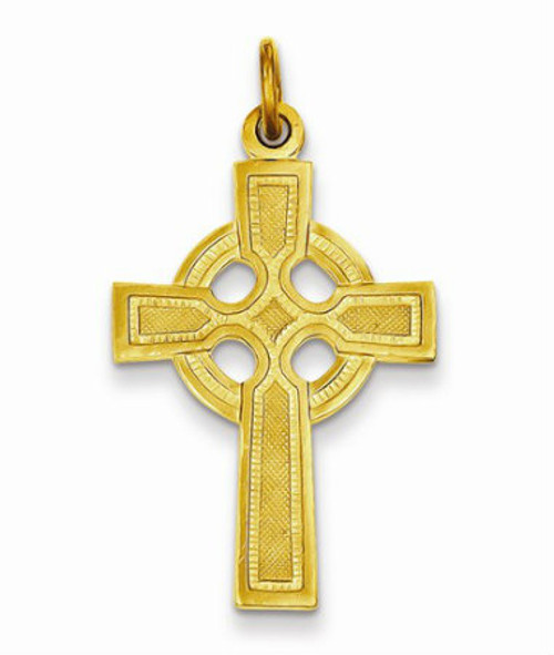 Sterling Silver and 24 Karat Gold Plated Celtic Cross Pendant