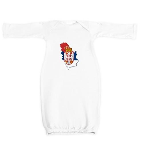 Kosovo is Serbia Newborn Gown