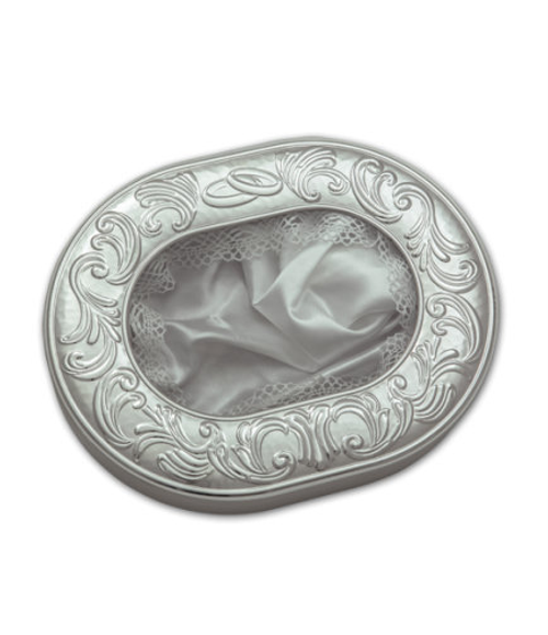 Greek Silver Wedding Crown Case- Oval Shaped with Your Choice of Trim