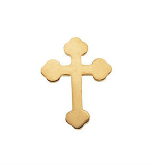 14KYG Orthodox Cross Lapel Pin