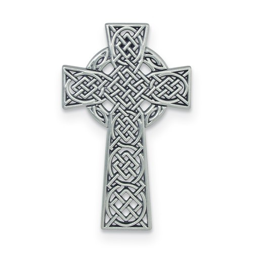 Silver Celtic Hanging Wall Cross- 4 1/2""