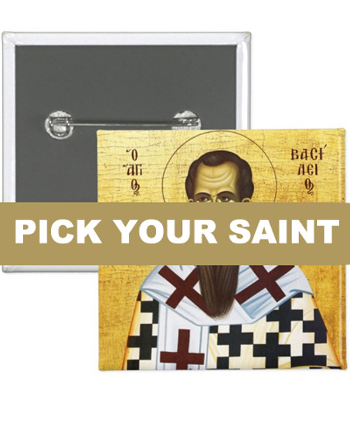 "Pick-Your-Saint 2"" Square Icon Buttons:  Set of 100"