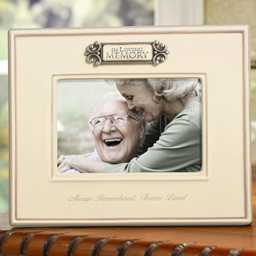 In Loving Memory Ceramic Memorial Photo Frame:  4 x 6""