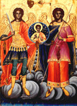 Archangels Michael and Gabriel icon