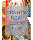 "Custom Icon Cards: 4 x 6"", Glossy UV Coated"