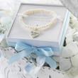 Flower Girl Heart Freshwater Pearl Bracelet