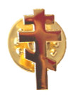 Tri-Bar Cross Lapel Pin- 1""