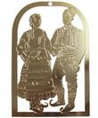 Gold Serbian Folklore Dancers Ornament
