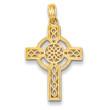 14KYG Diamond-Cut Celtic Cross Pendant- ON SALE!