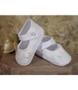 Girls Cotton Batiste Christening Shoes