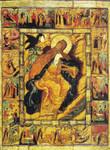 Prophet Elijah Icon with Scenes