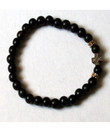 28 Bead Prayer Rope (Black Ebony Wood with Gold)- Petite