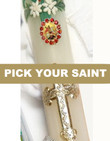 Pick-Your-Saint Swarovski Candle Jewel- Red