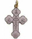 "Enameled Cross: 1""- White"