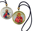 Dual-Sided Hanging Car Icons- Christ & Theotokos Style II
