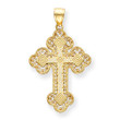14KYG Greek Filigree Byzantine Cross