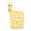 14KYG Holy Bible with Orthodox Cross Charm