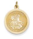 14KYG St. George Round Medallion