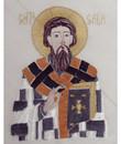 Embroidered Icon Cloth: St. Sava