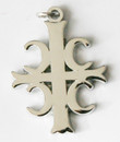 4Cs Serbian Style Cross- Nickel