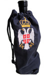 Serbian Grb Embroidered Wine Bag: Navy