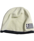 Embroidered Greek Flag Knit Cap