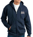 Embroidered Greek Flag Zip Sweatshirt- Men's MORE COLORS!
