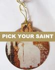 Pick-Your-Saint Acrylic Christmas Ornament