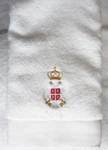 Embroidered Premium Towel - Serbian Crest: Hand Towel