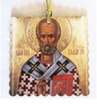 St. Nicholas (Gold) Square Acrylic Christmas Ornament