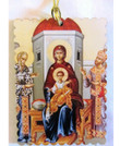 Virgin Enthroned Acrylic Christmas Ornament