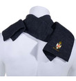 """Navy Embroidered Serbian Crest """"СРБИЈА"""" Scarf"""