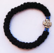 33 Knot Prayer Rope: Mt. Athos (Black Wool with Blue Beads)