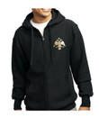 Embroidered Byzantine Eagle Flag Zip Sweatshirt- Men's