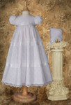 "27"" Girls Layered Lace Christening Dress"
