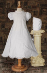 "26"" Cotton & Lace Baptismal Gown"