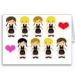 Serbian Girl Dancers Note Cards- Set of 10