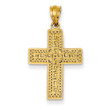 14KYG Greek Filigree Cross Pendant- 7/8""