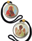 Dual-Sided Hanging Car Icons- St. Anna, Theotokos & Guardian Angel
