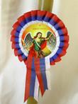"Serbian Slava Beeswax 18"" Candle with Medallion: Sveti Arhangel Mihailo"