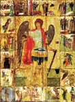 Archangel Michael Icon with Scenes (Rublev)