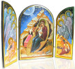 Nativity of Christ Tabletop Triptych Icons: Style II