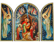 Nativity of Christ Tabletop Triptych Icons: Style III