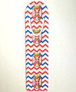 Printed Metallic Bookmark: Serbian Chevron Grb Design