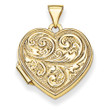 "14KYG Scrolled ""Love you always"" Heart Locket"