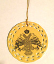 Byzantine Eagle Ceramic Cut-Out Border Ornament