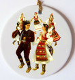 Serbian Dancers Ceramic Ornament