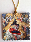 Nativity Icon Square Acrylic Christmas Ornament