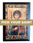 Pick-Your-Saint Mounted Icon- 5 x 7""