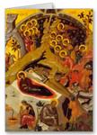 Nativity of Christ Icon III Greeting Card